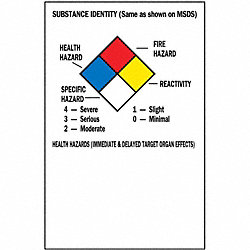 NFPA Label, 5 In.H, 3 In.W, Paper, PK 500