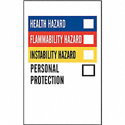 NFPA Label, Vinyl, 1-1/4 In.W, PK 500