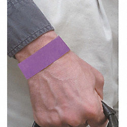 Wristband, Purple, Numbered, PK 500