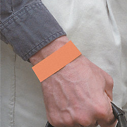 Wristband, Orange, Numbered, PK 500