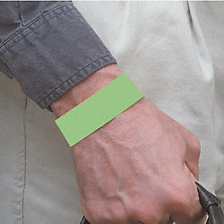 Wristband, Green, Numbered, PK 500