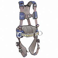 Full Body Harness, 2XL, 420 lb., Blue