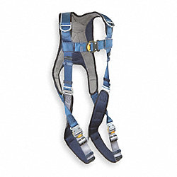 Full Body Harness, M, 420 lb., Blue/Gray