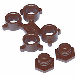 Side Connector, Brown, For 36 In Mat