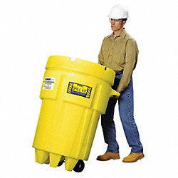 Spill Kit, Wheeled Can, 62 gal., Universal