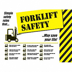 Safety Poster, 18 x 24In, FLEX PLSTC, ENG