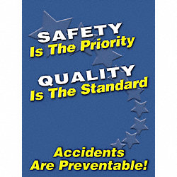 Safety Poster, 24 x 18In, FLEX PLSTC, ENG
