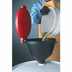 Drum Funnel with Lid, 13 3/8, with Spout