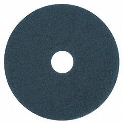 Floor Pad, Scrubbing, Blue, 12 In, PK 5