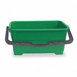 Bucket, 6 Gal., Green, Polyethylene