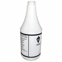 Bottle, 24 oz., White/Black, PK 12