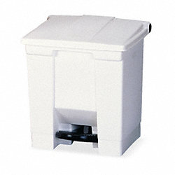 Step On Receptacle, 8 G, White