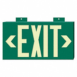 Exit Sign, 8 x 15In, YEL/GRN, Exit, ENG, Text