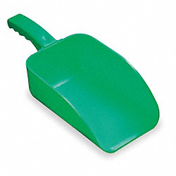 Plastic Hand Scoop, Green, 15 x 6 1/2 In