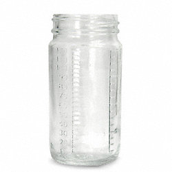 Bottle Wide Mouth Glass 16 Oz Clear, PK24