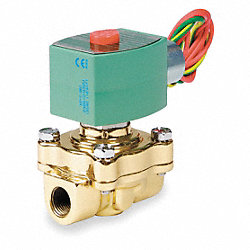 Solenoid Valve, 1/2 In, Brass, 120 V