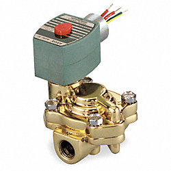 Solenoid Valve, 2 In, Brass, 120 V