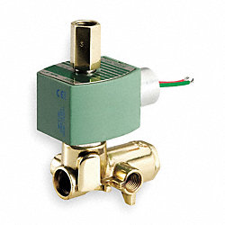 Solenoid Valve, 4 Way, Brass, 1/4 In