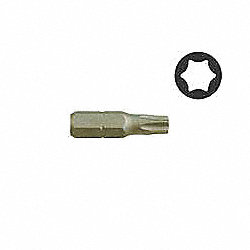 TORX, Point Size T10, 1 L, 1/4 Shank
