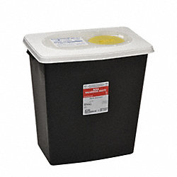 Hazardous Waste Container, 18-3/4 In. H