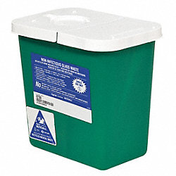 Sharps Container, 8 Gal., Hinged Lid, PK 2