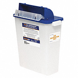 Sharps Container, 2 Gal., Hinged Lid, PK 5
