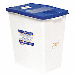 Sharps Container, 12 Gal., Hinged, PK 2