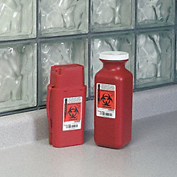 Sharps Container, 1/4 Gal., Hinged, PK 2