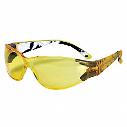 Safety Glasses, Yellow, Scratch-Resistant