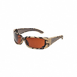 Safety Glasses, Brown, Uncoated