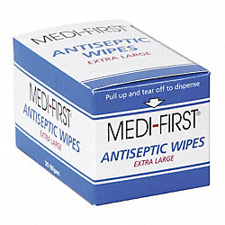 Antiseptic Wipes, XL, PK20