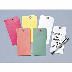 Blank Tag, 6-1/2 x 3-1/8 In, Wht, PK100