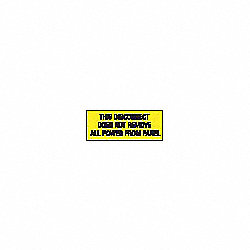 Lockout Label, 2-1/4 In. H, PK 2