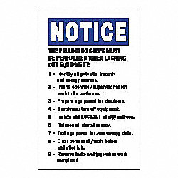 Lockout Label, 5 In. H, 3-1/2 In. W, PK 2