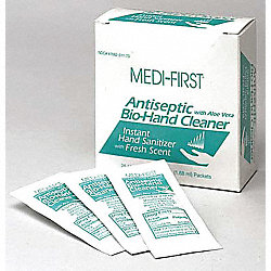 Antiseptic Bio-Hand Wipe, Alcohol, PK25