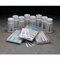 Test Strips, Free Chlorine, 0-750ppm, PK 50