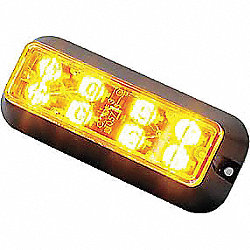 Warning Light, LED, Black, Surface, Rect, 5 L