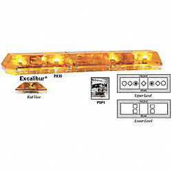 Lightbar, Halogen, LED, Amber, Perm, 47 In