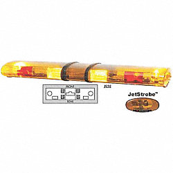 Lightbar, Strobe, Amber/Red, Perm, 48 In
