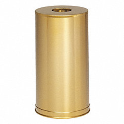 Waste Receptacle, Open, Satin Brass, 15 gal