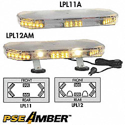 Lo Mini Lightbar, LED, Ambr, Perm, 22-1/2 In