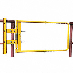 Adj Safety Gate, 24 to 40 In, Yellow