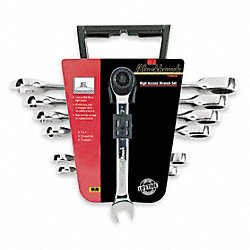 Ratcheting Wrench Set, Metric, 7 PC