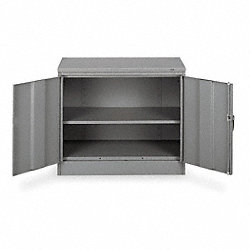Desk Height Cabinet, Unassembled, Gray