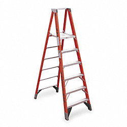 Platform Stepladder, 30-1/2 In. W, 375 lb.