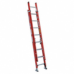 Extension Ladder, Fibrglss, 16 ft., IA
