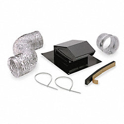 Roof Vent Kit, Flexible Duct, 8 ft. L