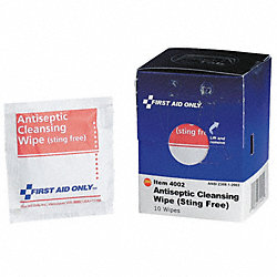 Antiseptic Cleansing Wipe, Pk 10