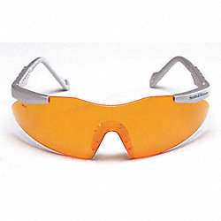 Safety Glasses, Orange, Scratch-Resistant