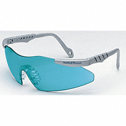 Safety Glasses, Teal, Scratch-Resistant
